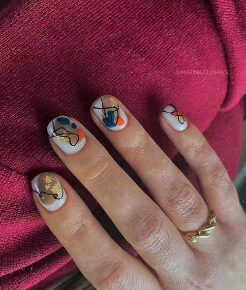 Абстрактный дизайн мазки ногти