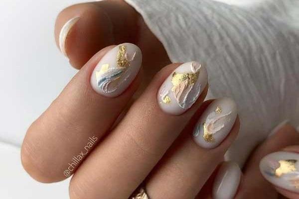 Мазки на ногтях фото
