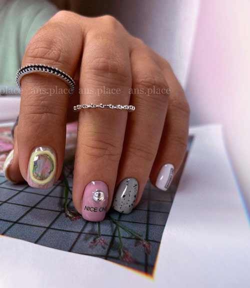 Мазки на ногтях дизайн