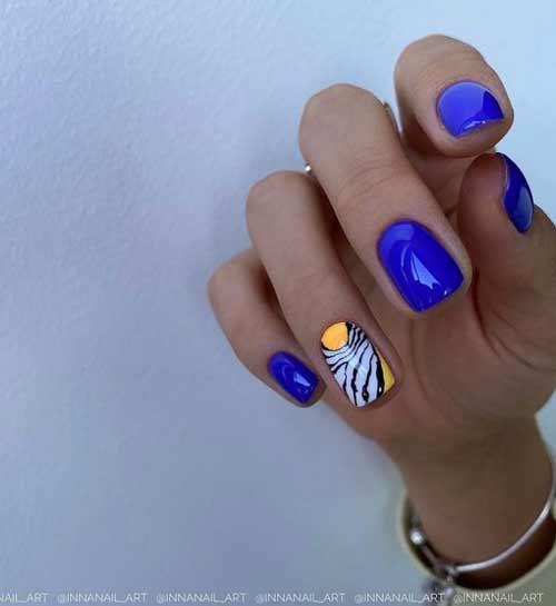 Маникюр зебра на ногтях