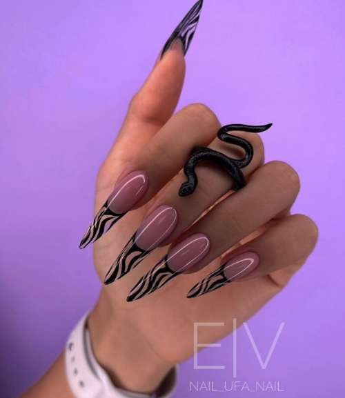 Френч дизайн зебра