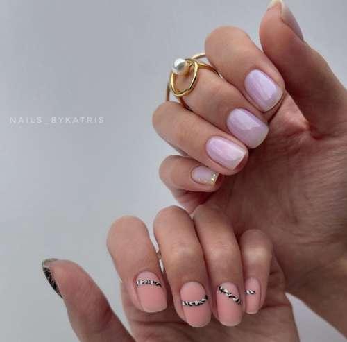 Дизайн ногтей под зебру