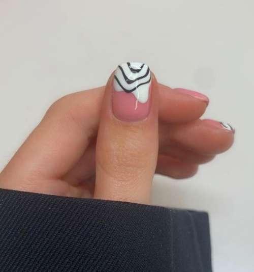 Белый френч зебра