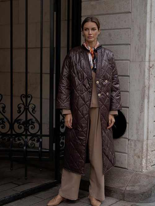 Пальто-кимоно пуховик