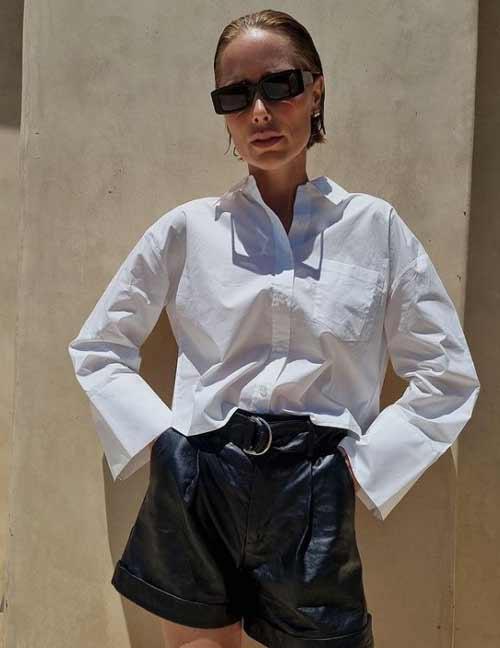 Длинные рукава женская рубашка оверсайз