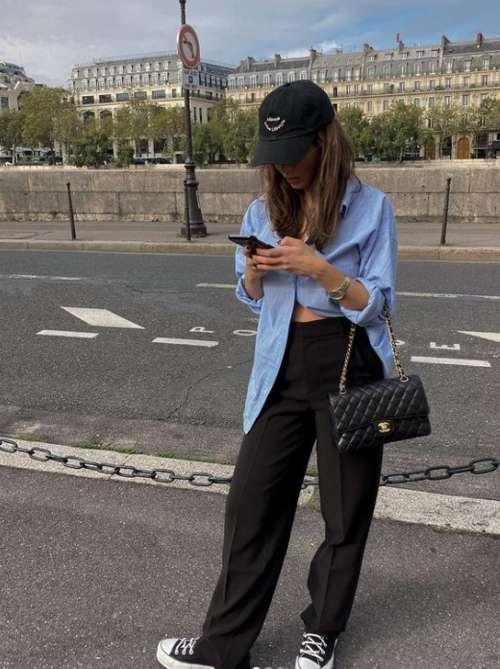 Рубашка оверсайз 2022: тренды, как носить, женские образы