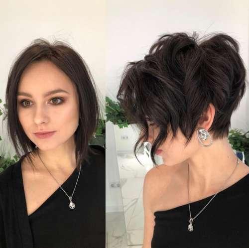 Пикси-боб на тонкие волосы