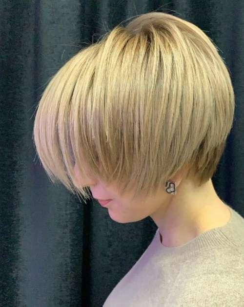 Пикси боб на средние волосы