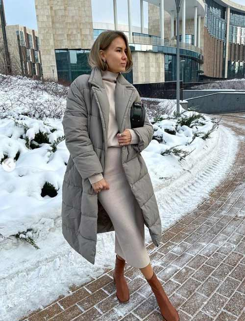 Пуховик пальто