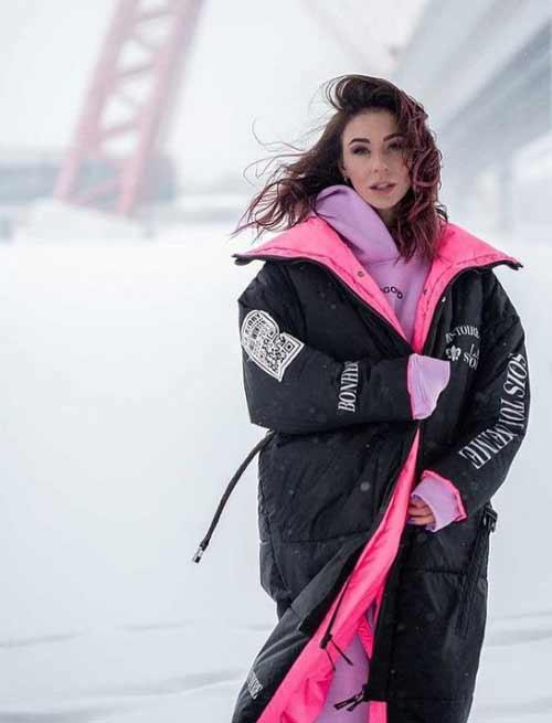 Женский пуховик зима стиль одеяло